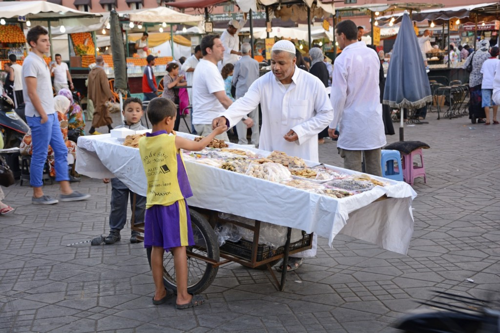 Moroccan vendor of sweets