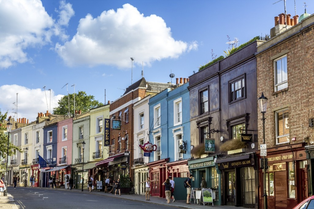 Portobello road, famous market in London