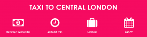 Taxi to Central London