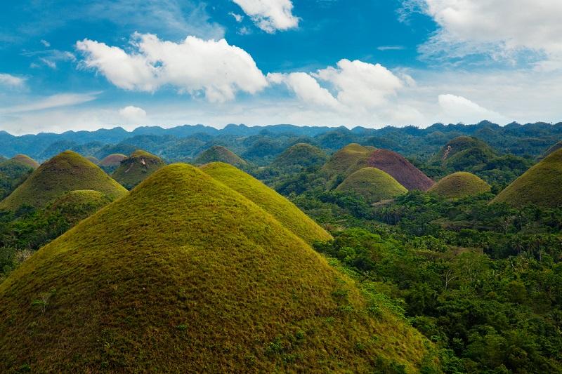 Chocolate hills - Bohol island, Philippines