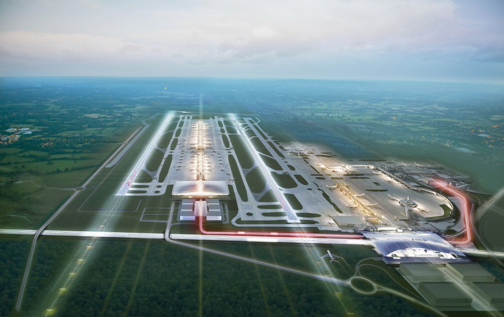 two runway Gatwick airport