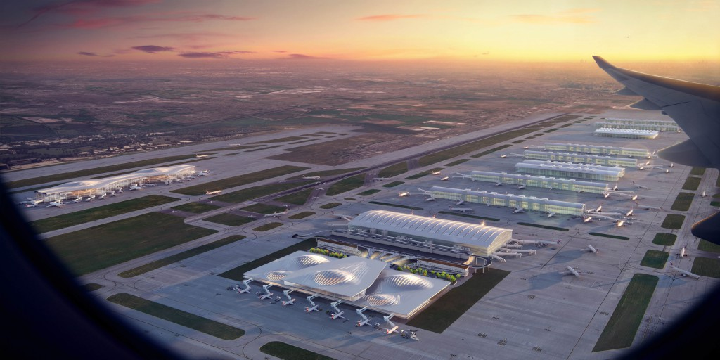 Heathrow airport expansion zaha hadid concept