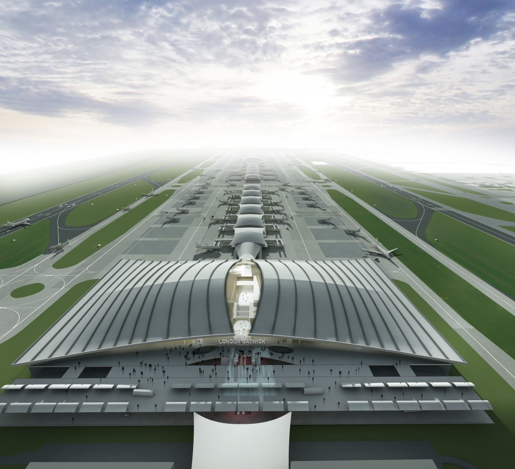 Gatwick airport expansion new terminal concept