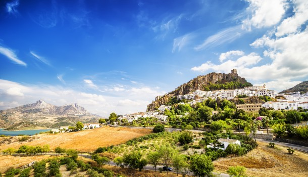 Zahara de la Sierra, beautiful town located in the Sierra de Grazalema, Cadiz (Andalusia), Spain.